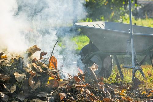 faire un feu dans son jardin