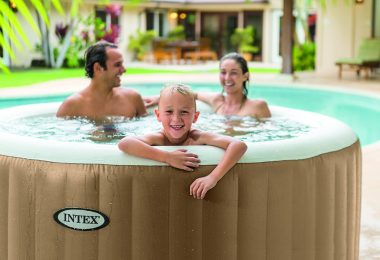 Spa Gonflable Intex Purespa Bulles 6 Personnes 12 Cartouches Pure