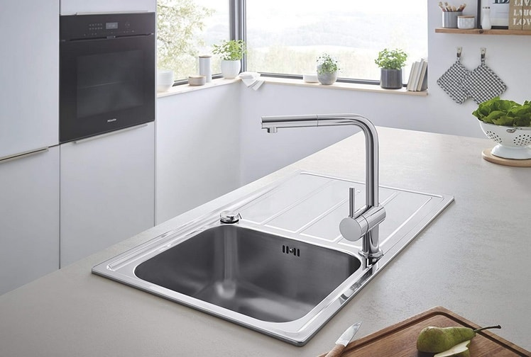 robinet mitigeur rabattable grohe