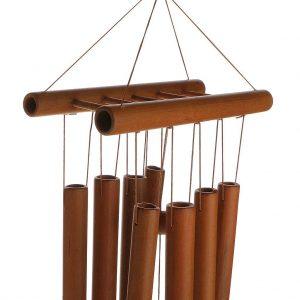carillon à vent décoratif en bambou pour le jardin