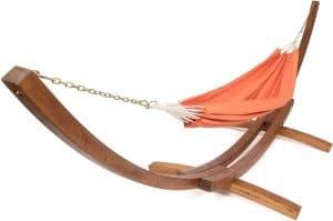 support de hamac en bois Ampel 24 avec sa toile Trinidad