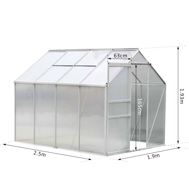 Avis serre de jardin en aluminium Outsunny : Faut-il acheter ce modèle ?
