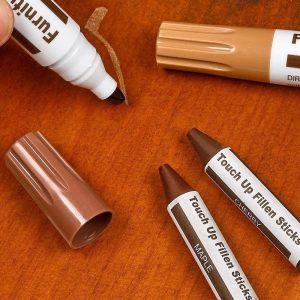 Le kit de réparation de meubles bois Marqueurs bois et bâtons de cire DAIXI