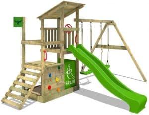 portique en bois jeux d'enfant