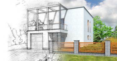 maison d'architecte en plan