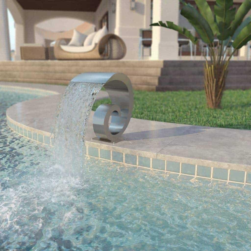 cascade en lame d'eau